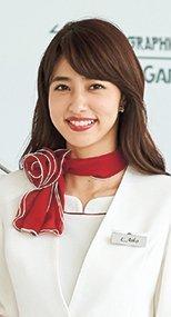 OP153 en joie(アンジョア) 大きな花びらのような赤いスカーフ 93-OP153