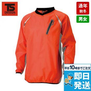 84335 TS DESIGN [春夏用]リップストップ ウインドブレーカーシャツ(男女兼用)