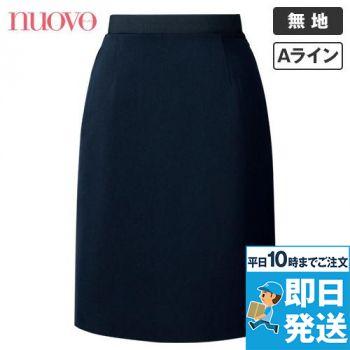 FS45801 nuovo(ヌーヴォ) ウエストゴムAラインスカート 無地 91-FS45801