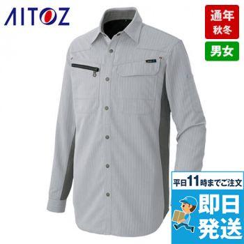 AZ30635 アイトス AZITOヘリンボーン シャツ/長袖