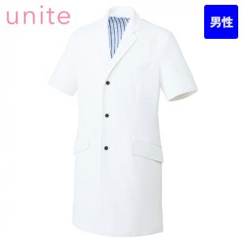 UN-0087 UNITE(ユナイト) 半袖ドクターコート(男性用)
