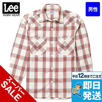 LCS46006 Lee ウエスタンチェック長袖/シャツ(男性用)