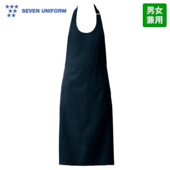 CT2359 セブンユニフォーム 胸当てエプロン(男女兼用) ストライプ