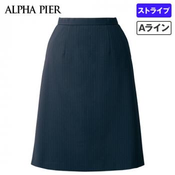 AR3888 アルファピア Aラインスカート ストライプ 40-AR3888