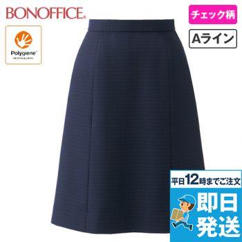AS2315 BONMAX Aラインスカート チェック