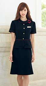 en joie(アンジョア) 56462 清涼感があり夏でも快適なマーメイドスカート(55cm丈) 無地 93-56462