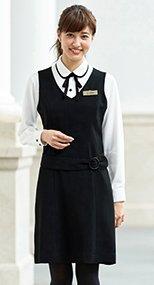 en joie(アンジョア) 61620 すっきりとした印象のジャンパースカート 無地 93-61620