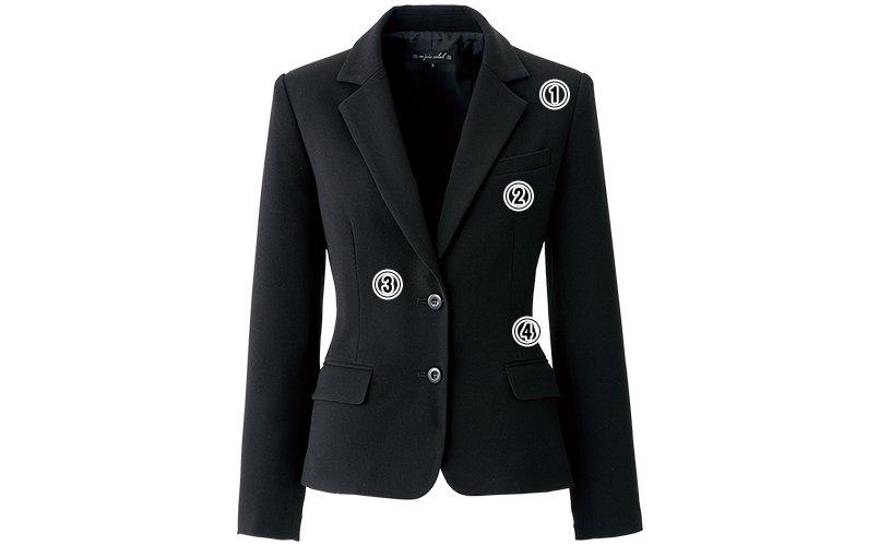 アンジョア81620ジャケットのこだわりポイント