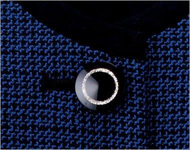きらきら輝くシルバーリングの黒ボタン