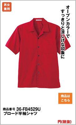 開襟タイプの半袖