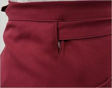 ズレを防止する腰紐通し穴