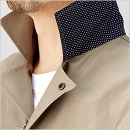 衿裏にドットパターン採用