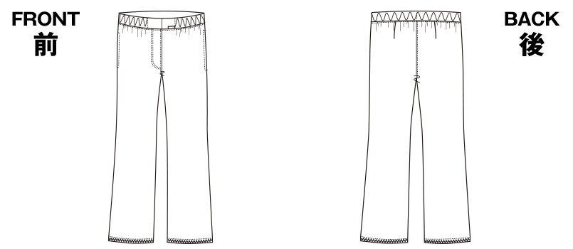 6007EW FOLK(フォーク) パントン レディースストレートパンツ 総ゴムのハンガーイラスト・線画