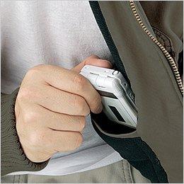 左胸 内ポケット(携帯電話ポケット付)