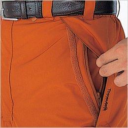 かぶせ式脇ポケット(ファスナー付)
