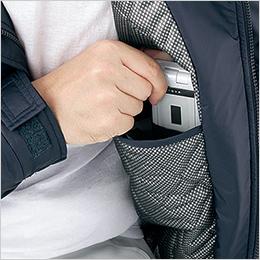 左胸 携帯電話収納ポケット