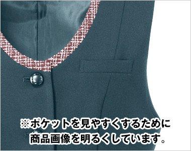ペンなどが収納できる左胸ポケット