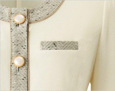 デザイン性のある両胸ポケット