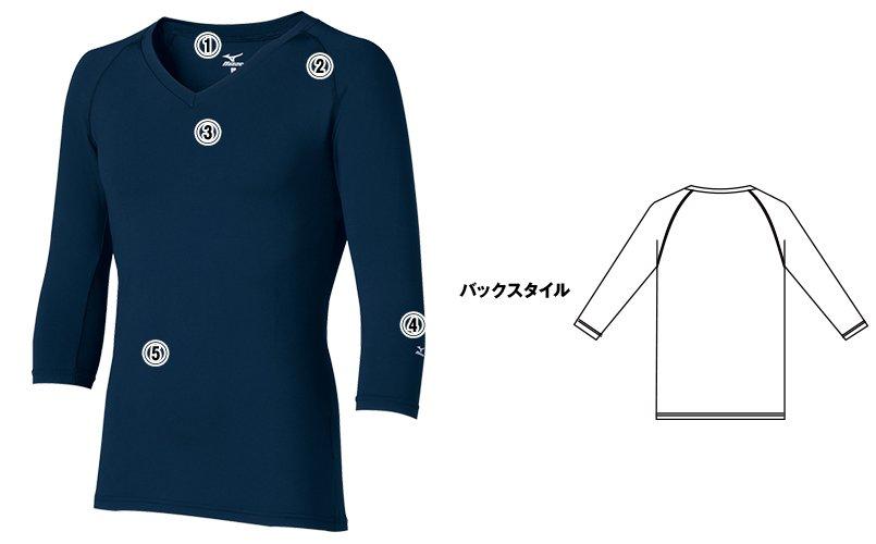MZ-0135 ミズノ(mizuno) アンダーウェア(男性用)スクラブインナーのこだわり画像