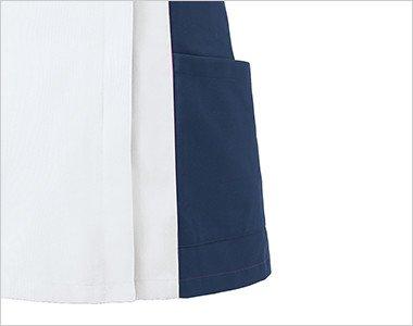両脇二段ポケットの下段