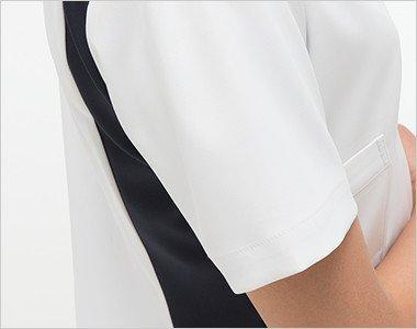 腕を細くみせてくれるスッキリした袖s