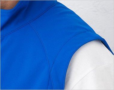 ラグラン仕様の肩部分