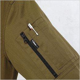 左袖 ファスナーポケット付き