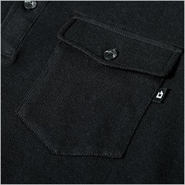 左胸 フラップ付きポケット