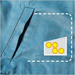 右脇ポケット内部にコインポケット付き