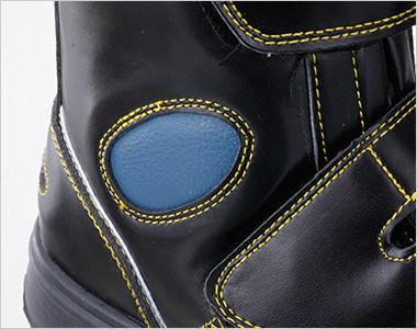 サイドのワンポイント部分には、くるぶしをガードするクッション材が入っています。