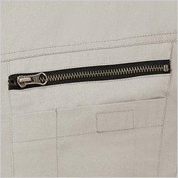 左胸 ファスナー付きポケット