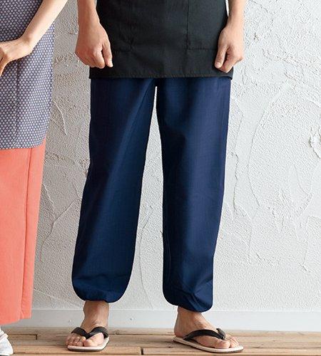 G-6875 シャンタン 和風パンツ(男女兼用)