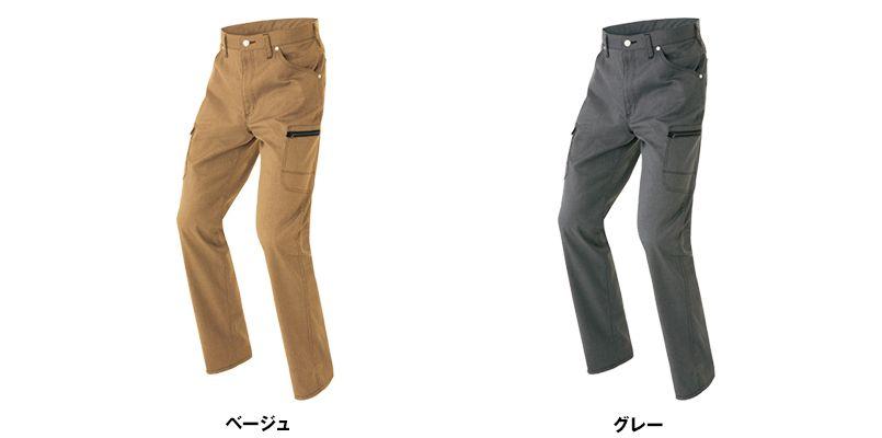 AZ64121 アイトス Wrangler(ラングラー) ノータックカーゴパンツ(男女兼用) 色展開