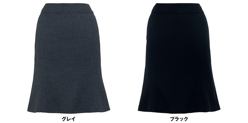BONMAX AS2267 [通年]セゾン 消臭加工剤が不快なニオイを消臭するマーメイドスカート 無地 色展開