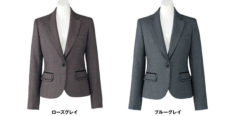 BONMAX LJ0164 [通年]エミュ ペッパーツイード素材ジャケット チェック 色展開