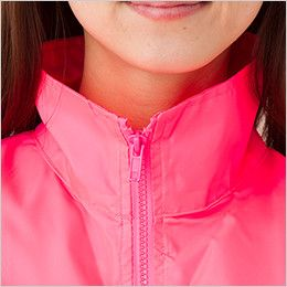 AZ50102 アイトス 裏メッシュブルゾン(男女兼用) 襟をたててスタンドカラーとしても着用可能