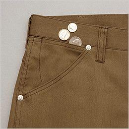 AZ64220 アイトス Wrangler(ラングラー) ノータックワークパンツ(男女兼用) 小物収納用のサブポケット