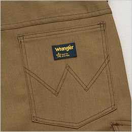 AZ64220 アイトス Wrangler(ラングラー) ノータックワークパンツ(男女兼用) ブランドロゴを象徴的に魅せるデザインステッチ