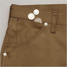 AZ64451 Wrangler(ラングラー) ノータックカーゴパンツ(男女兼用) 鍵や小物の収納に便利なサブポケット付きのポケット