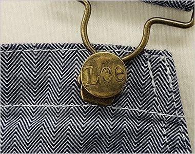 LCK79001 Lee オーバーオールエプロン(男女兼用) Leeのロゴ入りボタンで長さ調節できます