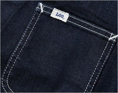 LCV19002 Lee ベスト(男女兼用) Leeのピスネームの付いた左胸ポケット