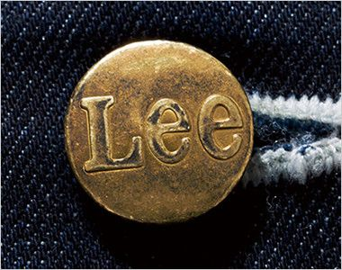 LCV19002 Lee ベスト(男女兼用) Leeロゴ入りのオリジナルボタン