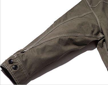 LWB03002 Lee ジップアップジャケット(女性用) 立体的な3枚袖仕様で、調節可能なボタン付き