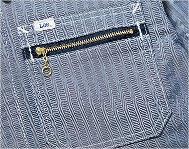 LWB06001 Lee ジップアップジャケット(男性用) ジッパー付きのポケット