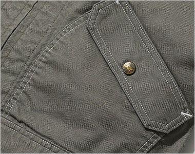 LWB06002 Lee ジップアップジャケット(男性用) 物が落ちにくいフラップ付き