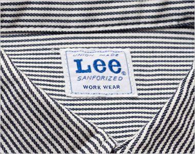 LWS46002 Lee ワーク半袖シャツ(男性用) Leeワークウェアオリジナルブランドネームタグ