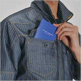 バートル 1501 ヘリンボーン&T/Cソフトツイルジャケット(男女兼用) レベルブックダブル収納ポケット