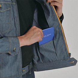 バートル 1501 ヘリンボーン&T/Cソフトツイルジャケット(男女兼用) 内ポケット