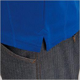 バートル 413 ドライメッシュ長袖ジップシャツ[左袖ポケット付](男女兼用) スリット