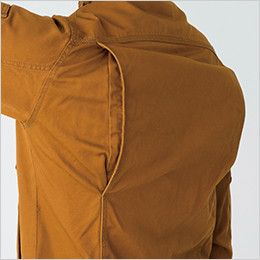 バートル 5505 綿100%チノクロス長袖シャツ(男女兼用) 背ノーフォーク
